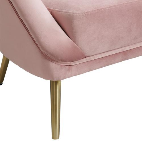 Elements - Trinity 16070 Chair W/Gold Leg Broadway Blush (ISTA 3 packaging)
