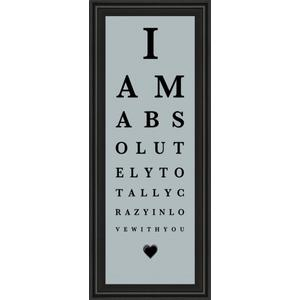 """""""Eye Chart I"""" By The Vintage Collection Framed Print Wall Art"""