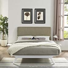 Tracy 3 Piece Queen Bedroom Set in White Latte