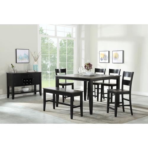 Merrill Creek Gathering Height Table, Charcoal & Ebony 8207-tpb5454