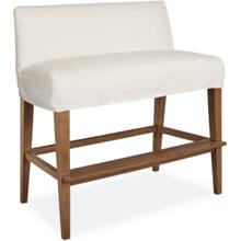 C7000-57 Slipcovered Dual Seat Counter Bench