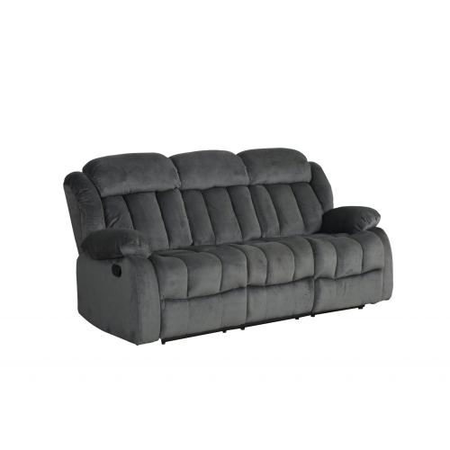 Reclining Sofa - Charcoal (Madison Collection)