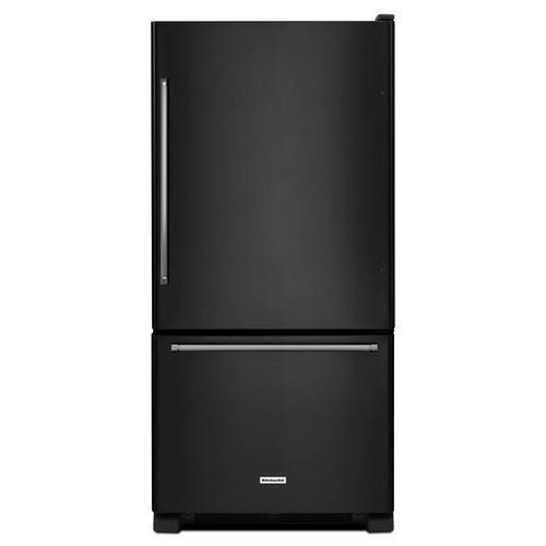 KitchenAid - KitchenAid® 22 cu. ft. 33-Inch Width Full Depth Non Dispense Bottom Mount Refrigerator - Black