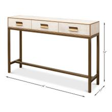 See Details - Shagreen Console Table, Osprey White