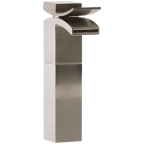 Quarto Vessel Lav Faucet Front Flow Brushed Nickel