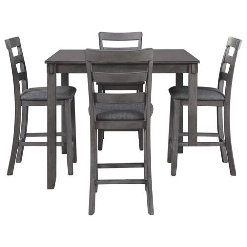 Bridson Gray Pub Table and 4 Stools