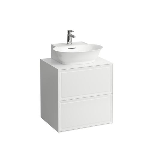 White Matte Drawer element 600, 2 drawers, matches small washbasin 816852