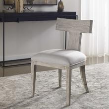 Idris Armless Chair, White, 2 Per Box