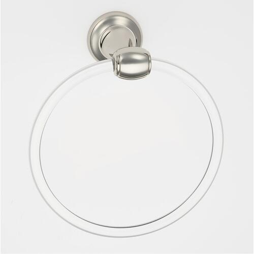 Acrylic Royale Towel Ring A7340 - Unlacquered Brass