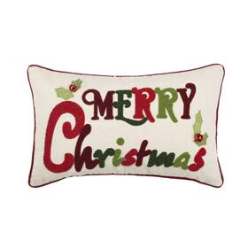 Jingles Pillow - Green / Red / Beige