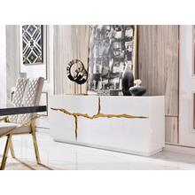 Modrest Aspen Modern White & Gold Buffet