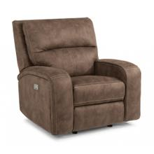 HARKNESS EXCLUSIVE! Power Recliner with Power Headrest *Available in Saddle Brown or Grey Microfiber*