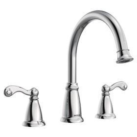 Traditional chrome two-handle roman tub faucet