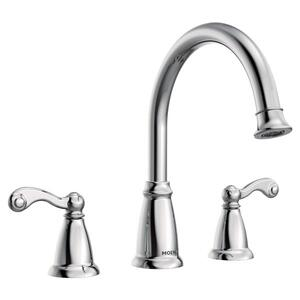 Traditional chrome two-handle roman tub faucet Product Image