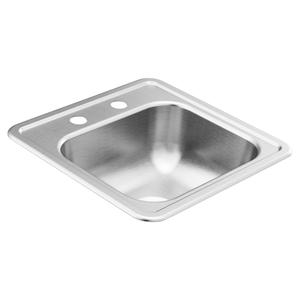"""2200 Series 15""""x15"""" stainless steel 22 gauge single bowl drop in sink"""