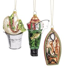 Fishing Ornaments (6 pc. ppk.)