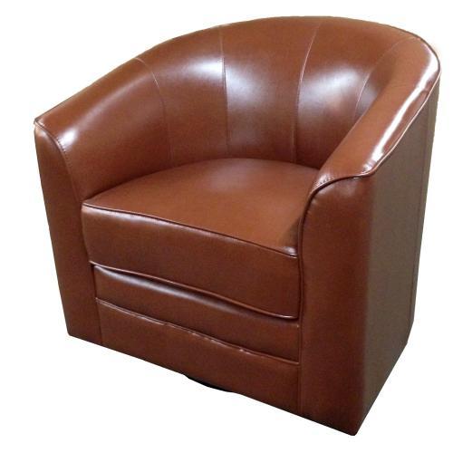 Emerald Home Furnishings - Emerald Home Milo Swivel Chair Reddish Brown U5029c-04-15