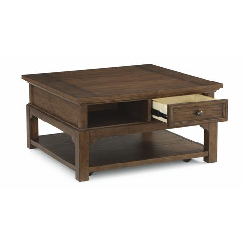 Flexsteel - Tahoe Square Coffee Table with Casters