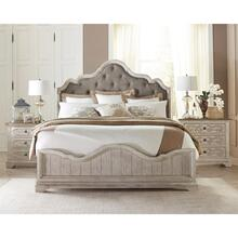 Elizabeth - King/california King Upholstered Headboard - Smokey White Finish
