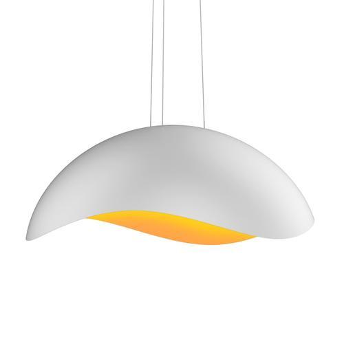 Sonneman - A Way of Light - Waveforms Dome LED Pendant [Size=Large, Color/Finish=Satin White w/Apricot Interior]