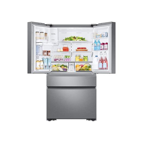 23 cu. ft. Counter Depth 4-Door French Door Refrigerator in Stainless Steel