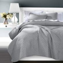 Anna Diamond Quilted Coverlet - 3 Colors (queen/king) - Super Queen / Gray
