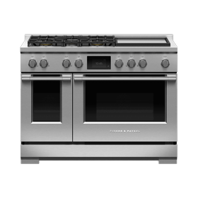 "Dual Fuel Range, 48"", 5 Burners with Griddle, Self-cleaning, LPG"