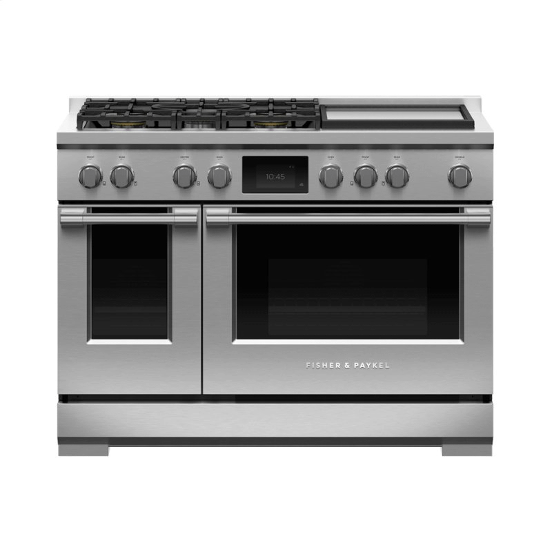 """Dual Fuel Range, 48"""", 5 Burners with Griddle, Self-cleaning"""