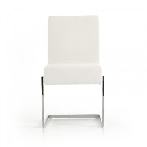 Batavia - Modern White Leatherette Dining Chair (Set of 2)