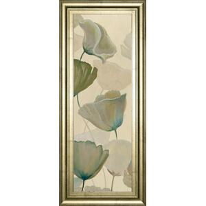 """Poppy Impression Panel 1"" By George Generali Framed Print Wall Art"