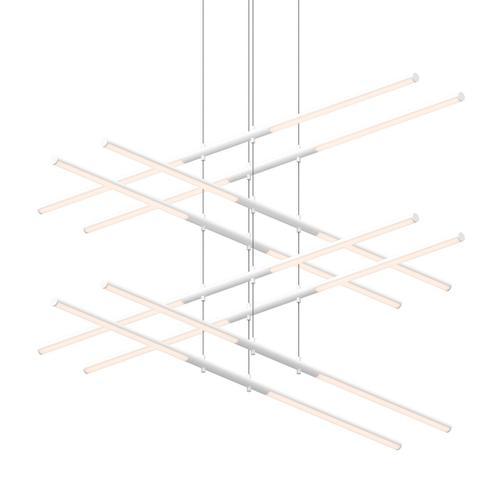 Sonneman - A Way of Light - Tik-Tak® LED Pendant [Size=Stack 4-Tier, Color/Finish=Satin White]
