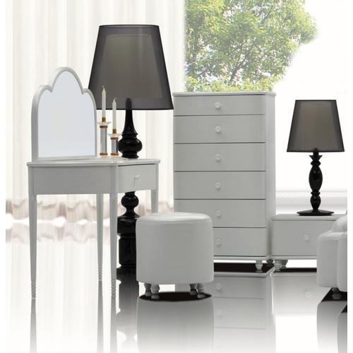 Whelk Modern White Vanity Table
