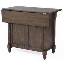 See Details - Kitchen Island w/Drop Leaf - Shades of Gray