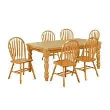DLU-SLT4272-820-LO7PC  7 Piece Extendable Dining Set  Arrowback Chairs