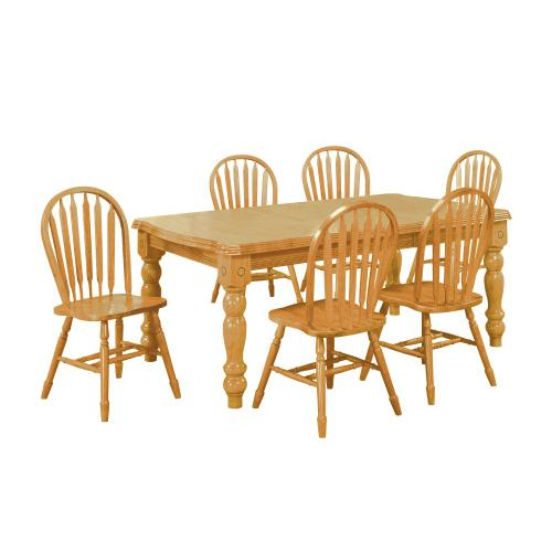 Extendable Dining Set with Arrow Back Chairs (7 Piece)