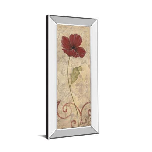 "Classy Art - ""Red Flower I"" Mirrored Framed Print Wall Art"