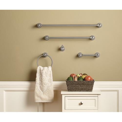 Traditional Brushed nickel pivoting paper holder