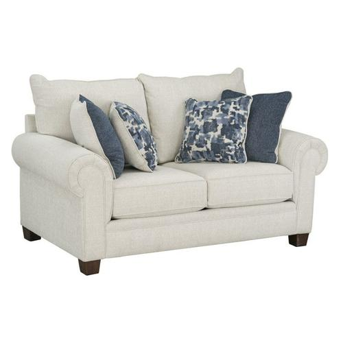 Windermere Upholstered Loveseat, Ecru