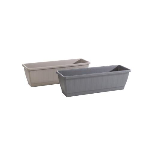 Kezar Plant Box w/ attached oblong tray, Large