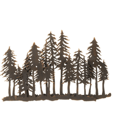 Layered Forest Silhouette Wall Decor