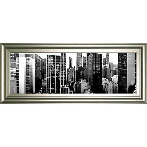 """Classy Art - """"Panorama Of NYC VIl"""" By Jeff Pica Framed Print Wall Art"""