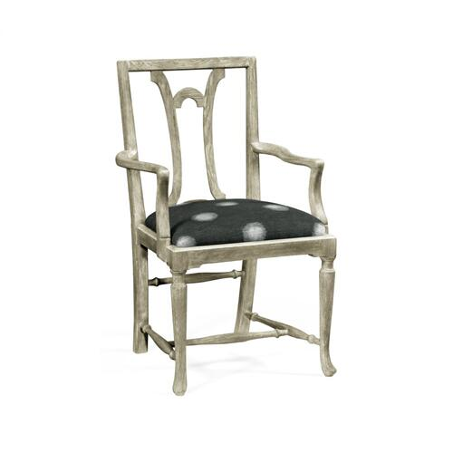 Lewellen Grey Oak Arm Chair