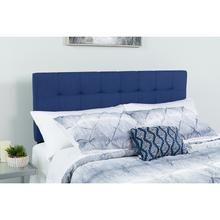 See Details - Bedford Tufted Upholstered Queen Size Headboard in Navy Fabric