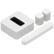 White- Surround Sound Set with Beam + Sub
