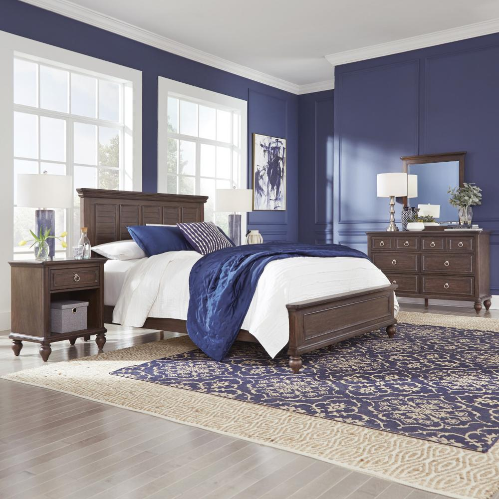Marie Queen Bed, Nightstand and Dresser With Mirror
