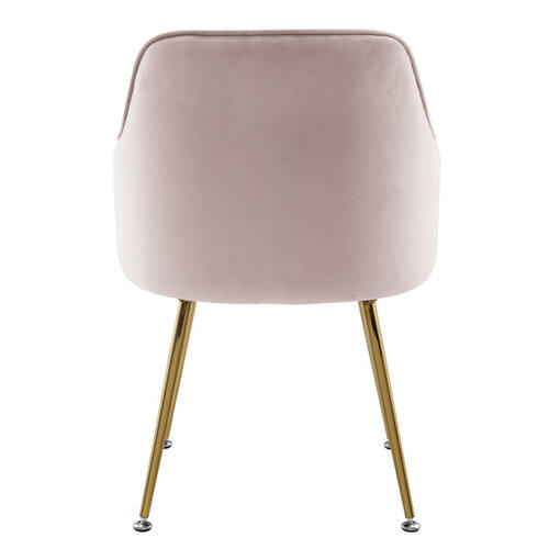 Metal Base Velvet Accent Chair
