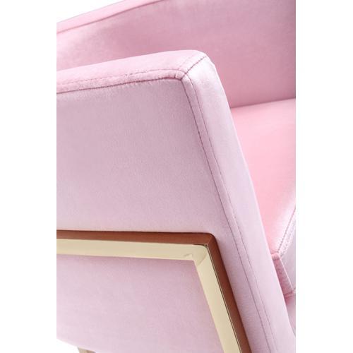 Modrest Betsy Modern Pink Velvet & Gold Dining Chair