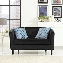 Prospect Performance Velvet Loveseat in Black