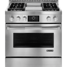 """See Details - Pro-Style® 36"""" Gas Range with Griddle and MultiMode® Convection, Pro-Style® Stainless Handle"""