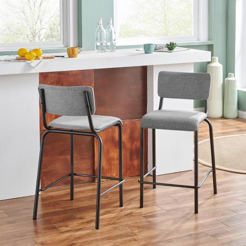 Lehman KD Fabric Counter Stool, Penta Gray